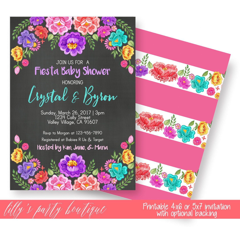 Fiesta Baby Shower Invitation, Mexican Floral Fiesta Invite, Baby ...