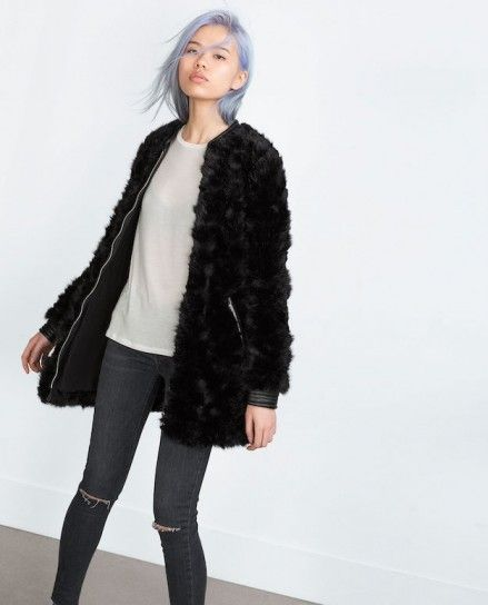 chaqueta con pelo negro - Buscar con Google