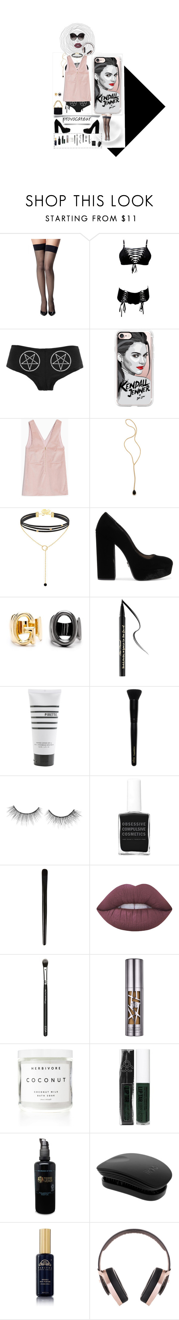 """""""Kendall"""" by lolakelley ❤ liked on Polyvore featuring Commando, Casetify, Max&Co., Jacquie Aiche, Prada, ANAME, Too Faced Cosmetics, Pirette, INIKA and tarte"""