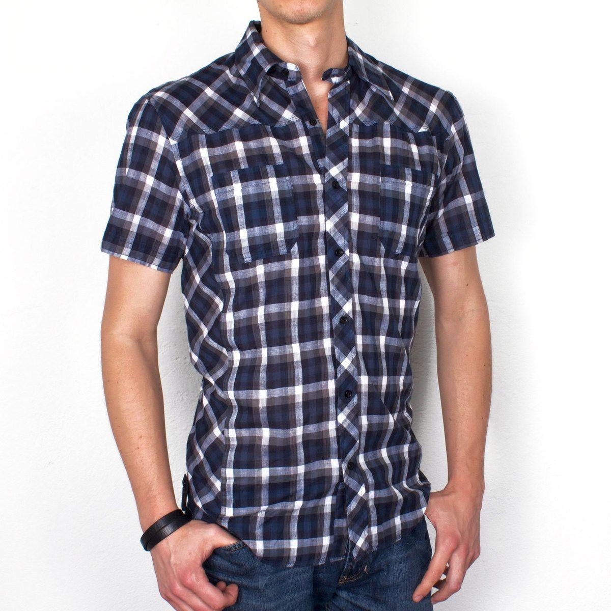 Roy Shirt Gray/Navy Check