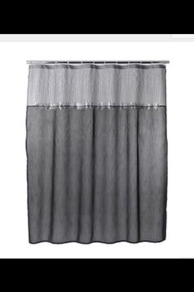 Kohls Home Classics Moonlit Gray Shower Curtain Sequin Nwop Black