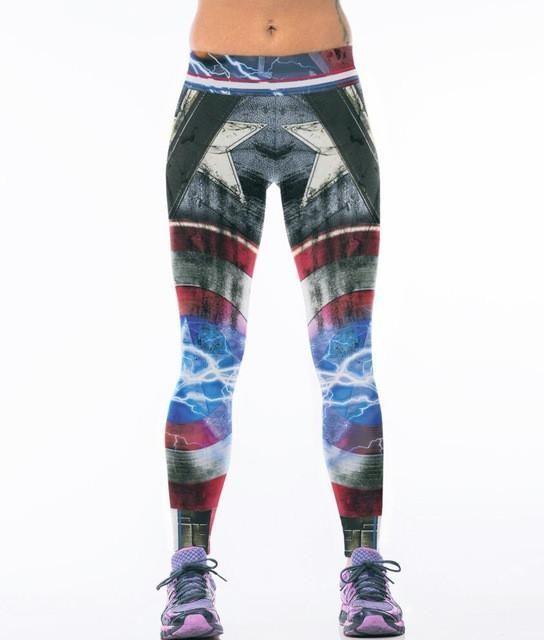 33a34f5ef484d Harley Quinn BATMAN Gym Leggings Yoga Pant Women's Sport Leggings Tight  Elastic Workout Fitness Leggings Running Sport Trousers