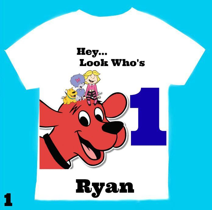 Clifford T Shirt Personalized 12 Months18 Months 2nd 3rd 4th5T6TPersonalization Is Included At No Additional Cost By FantasyKidsDesigns On Etsy Null