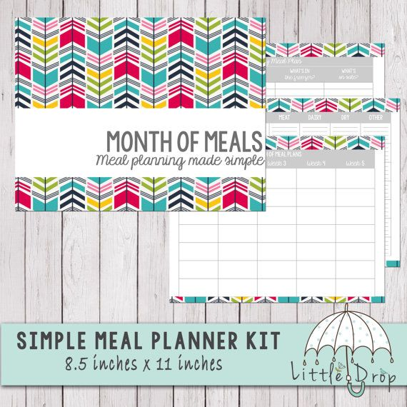 This is a simple yet effective method of meal planning I personally