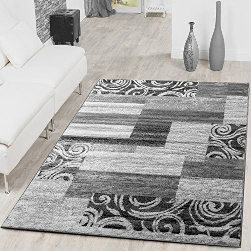 tapis bon march patchwork tapis moderne salon design gris crme polypropylne 240 x 340 cm - Tapis Moderne