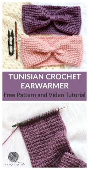 Make the Simple Tunisian Earwarmer *Free Pattern and Video Tutorial* #babyheadbandtutorial