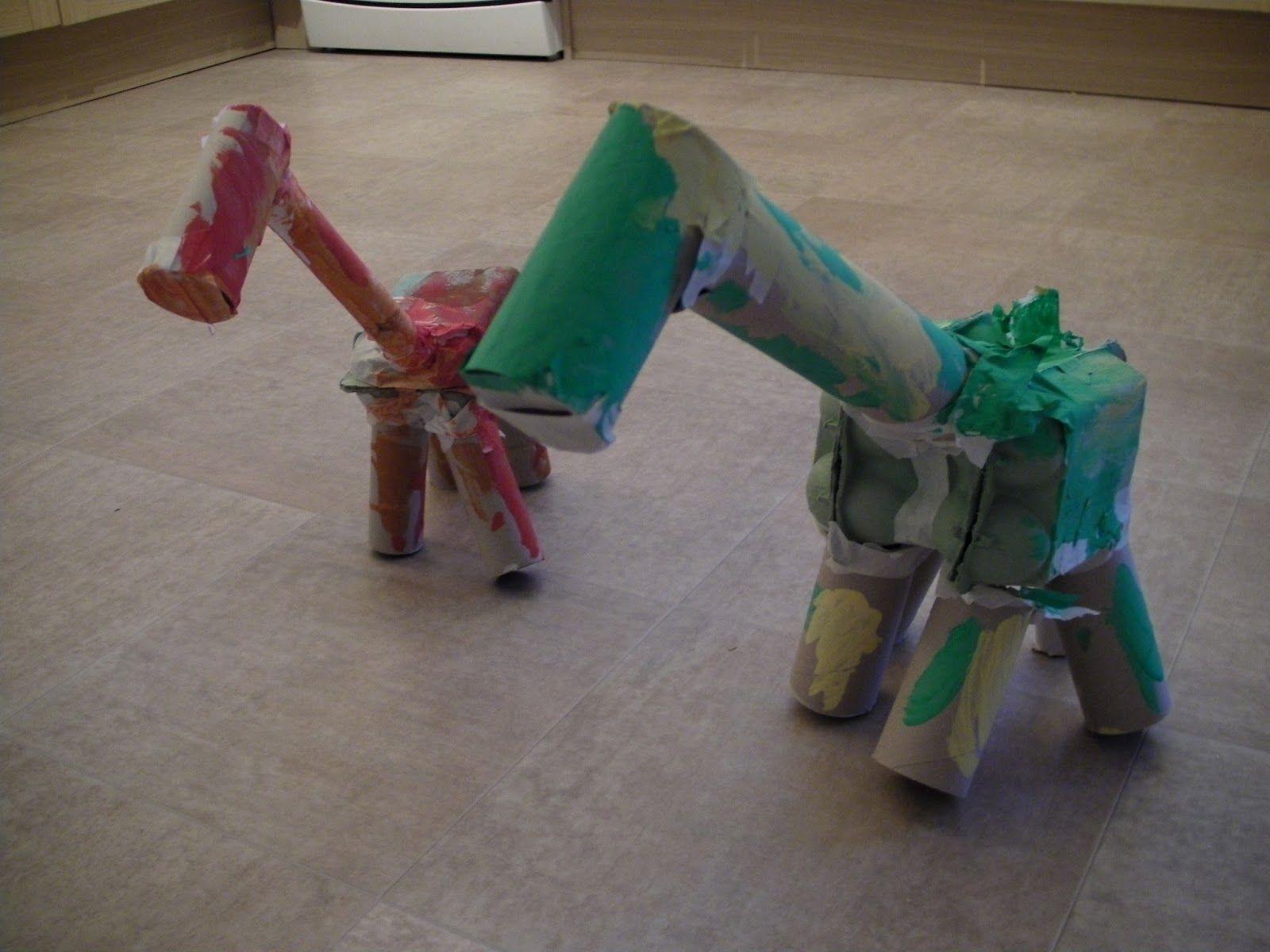 Crafty Mummy To 2 Animal Junk Modelling Junk Modelling Dinosaur Projects Dinosaur Theme