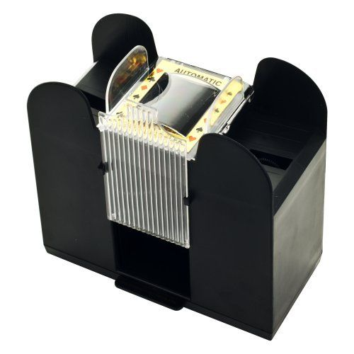 Casino 6 Deck Automatic Card Shuffler By Trademark Global 11 98 Amazon Com This Unit Will Function Using A Poker Sized Dec Deck Casino Poker