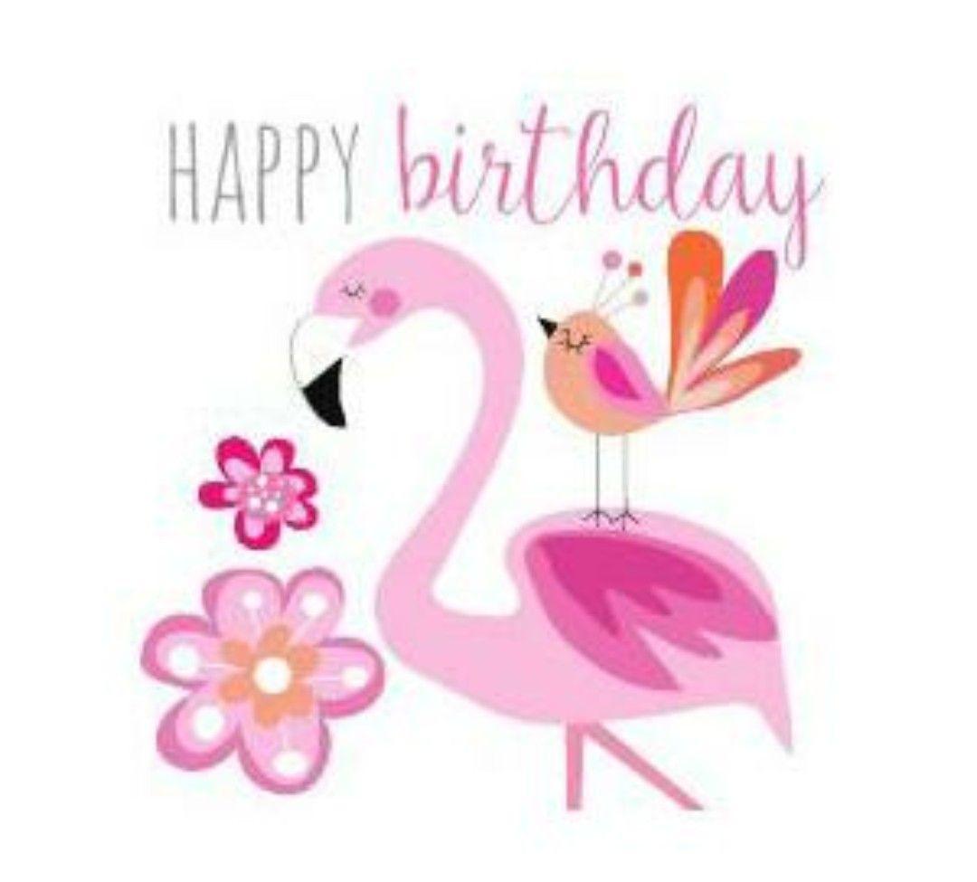 Funny Birthday Wishes Pink: Happy Birthday Pink Flamingo