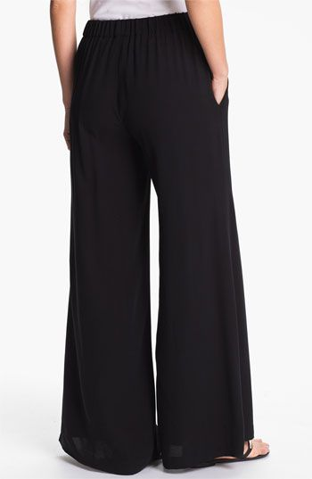 Eileen Fisher Wide Leg Silk Pants (Online Exclusive) | Nordstrom