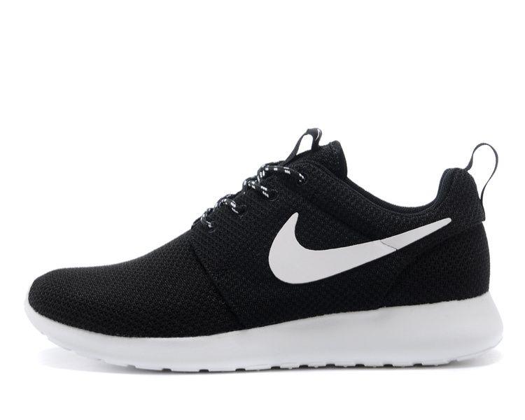 Cheap Nike Roshe Run Women USA Sale,Nike running Shoes outlet! Nike Roshe  Run Womens Black White Mesh shoes [ -