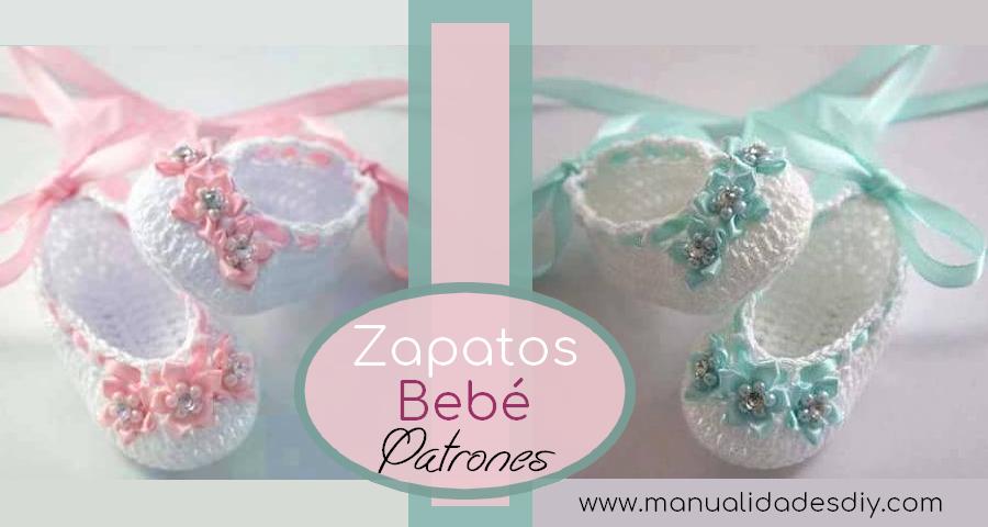 Zapatitos de Bebé a Crochet Faciles - Manualidades Y DIYManualidades ...