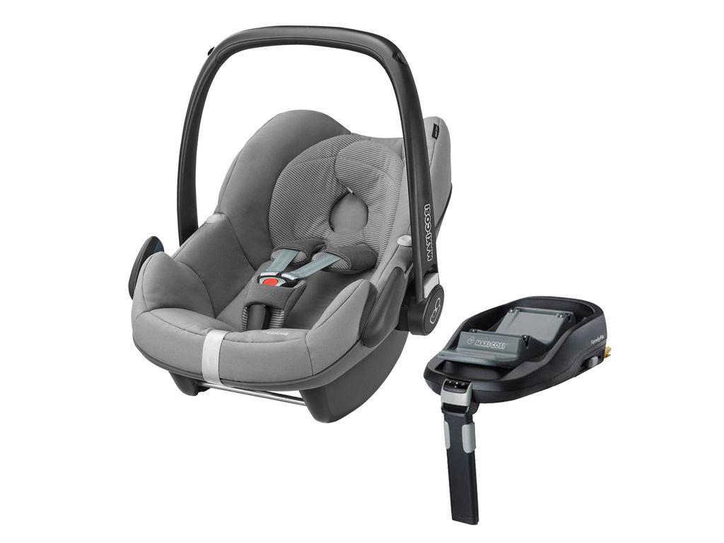 Maxi Cosi Pebble Group 0 Plus Car Seat In Concrete Grey And Familyfix Base Baby Car Seats Car Seats Maxi Cosi Car Seat