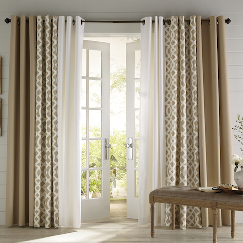 3 Coordinating Panels Patio Door Living Room Decor Curtains Livingroom