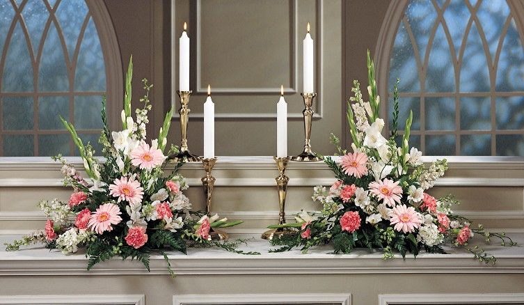Altar Church Decoration Flower Arrangement