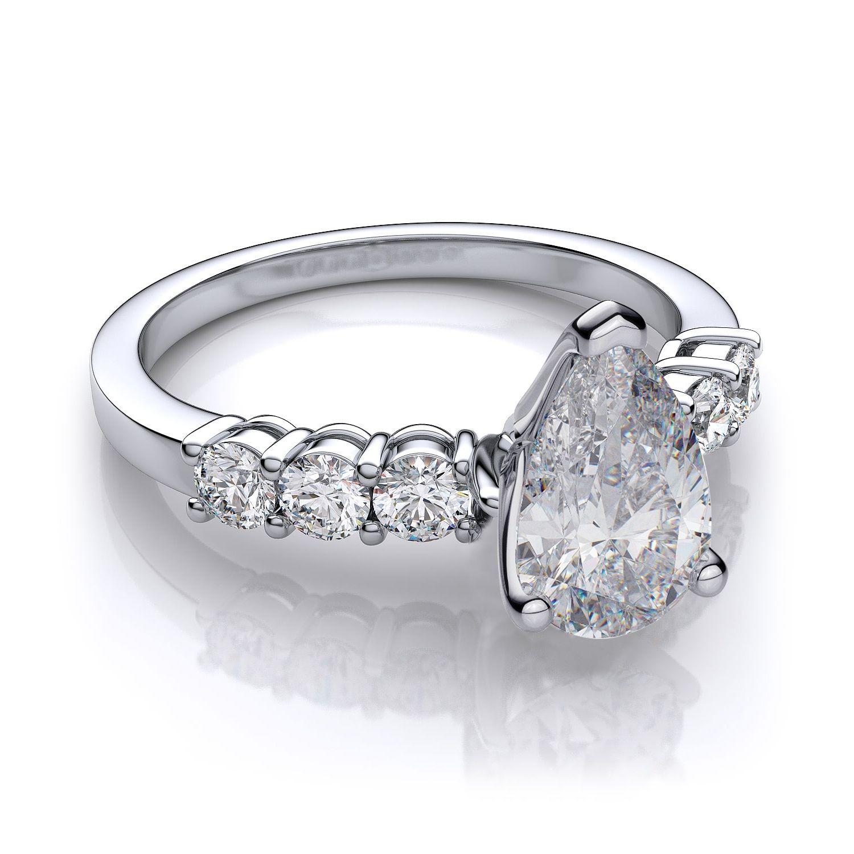 Pear shaped engagement ring settings wedding dress pinterest