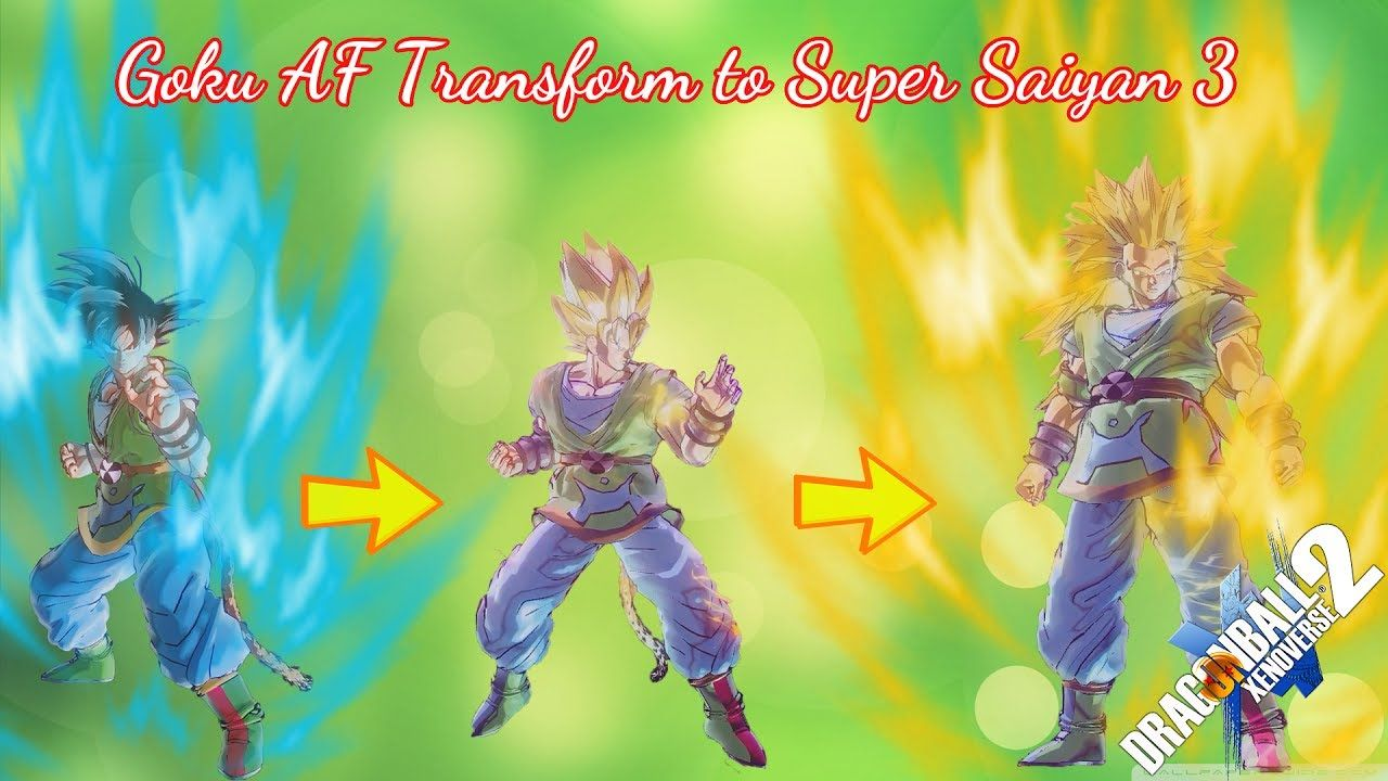 Goku AF All Transform SSJ SSJ2 and Super Saiyan 3 - Drag… | Goku AF