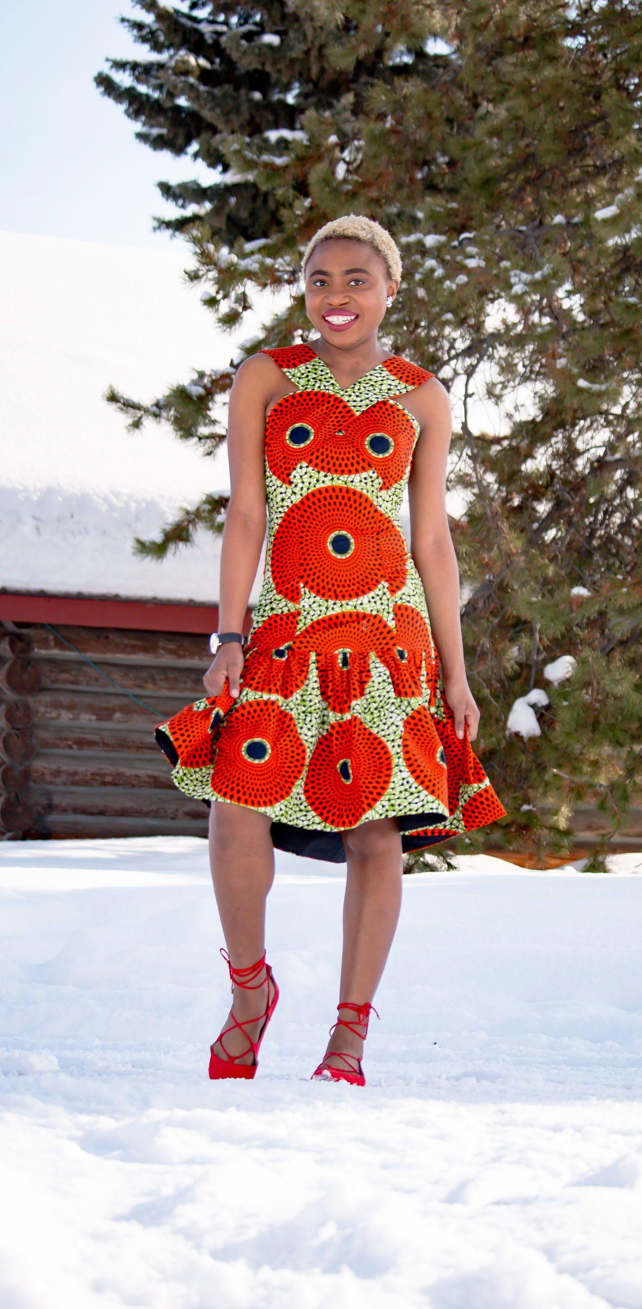 Chic African Print Summer Dress 30 Days Of African Outfits African Fashion African Clothing African Print Fashion [ 2547 x 1250 Pixel ]