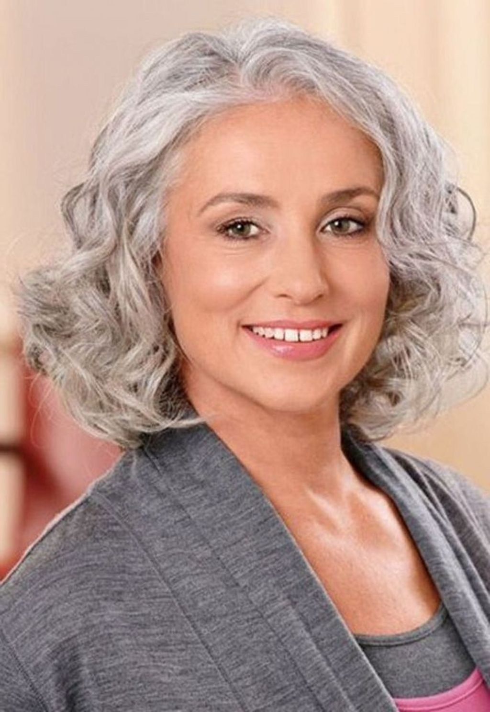 44 pretty grey hairstyle ideas for women medium hair