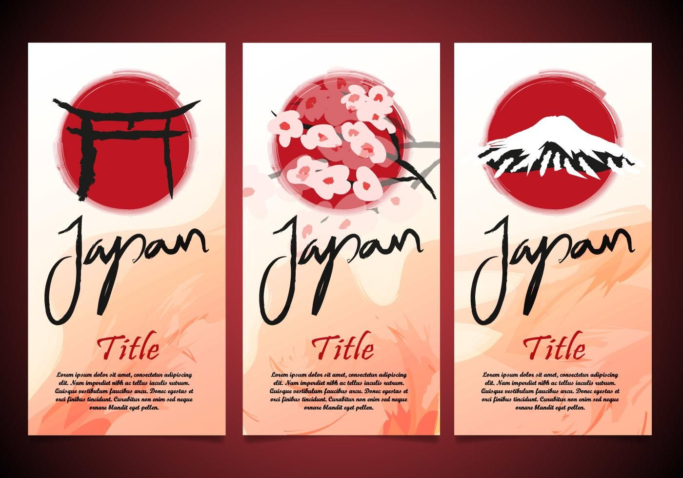 Torii Japan Flayers Template Vector Japan Templates Vector