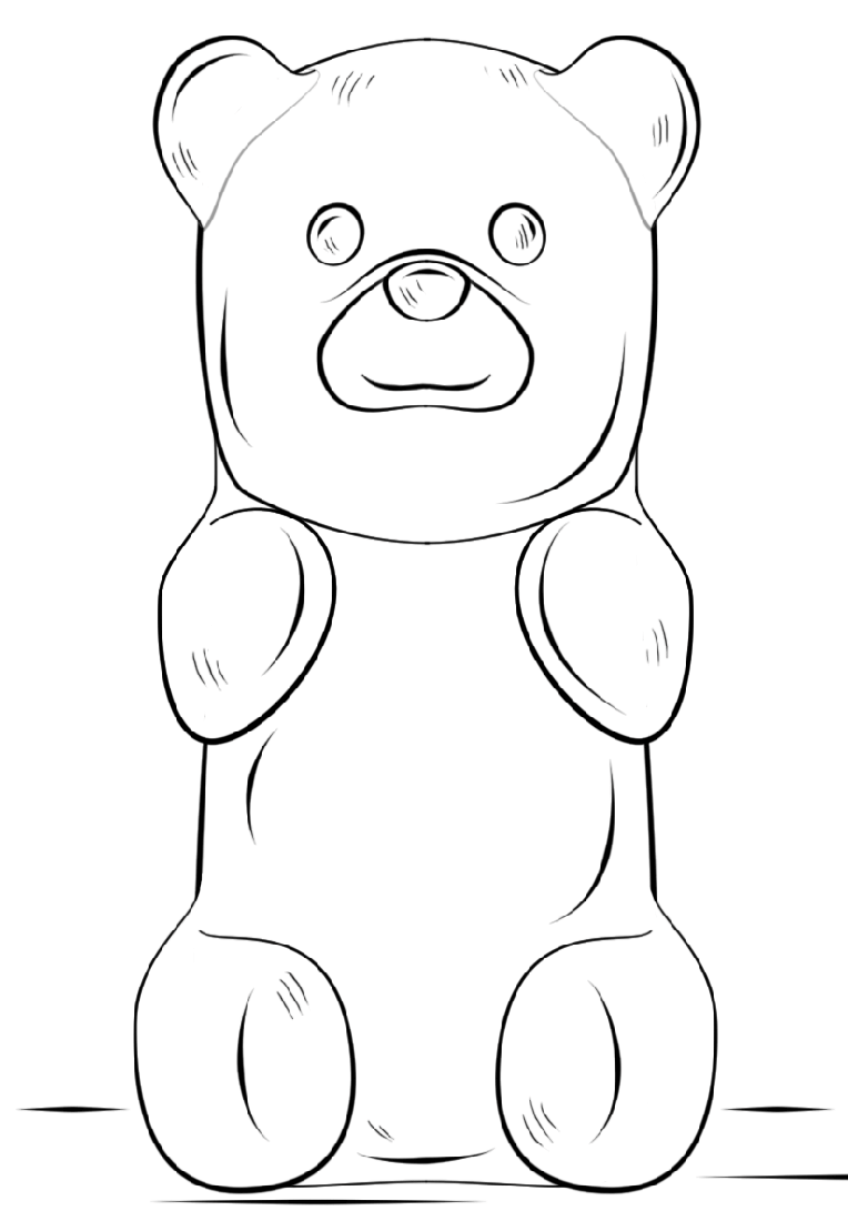 - Gummy Bear Coloring Page (With Images) Bear Coloring Pages