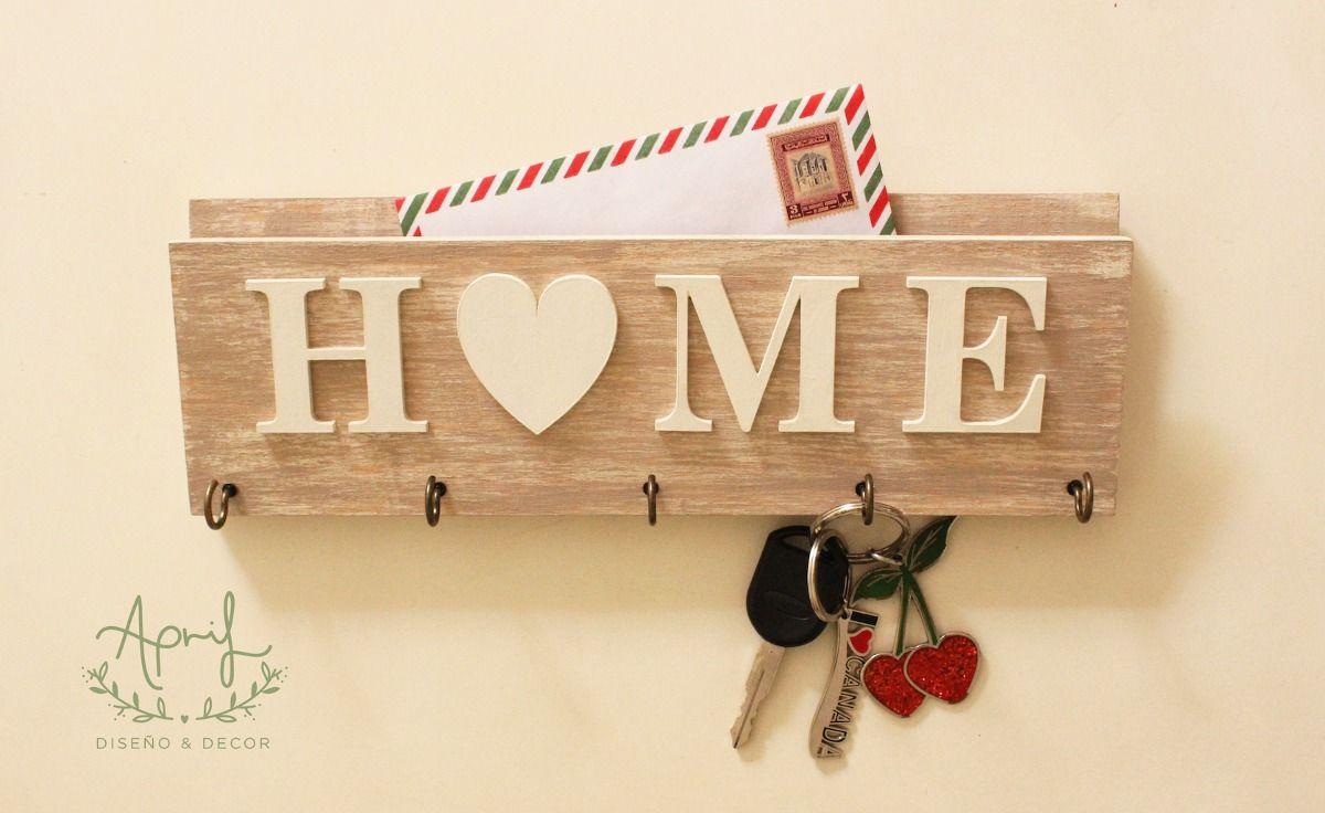 Casitas de madera porta llaves buscar con google diy - Casa letras madera ...