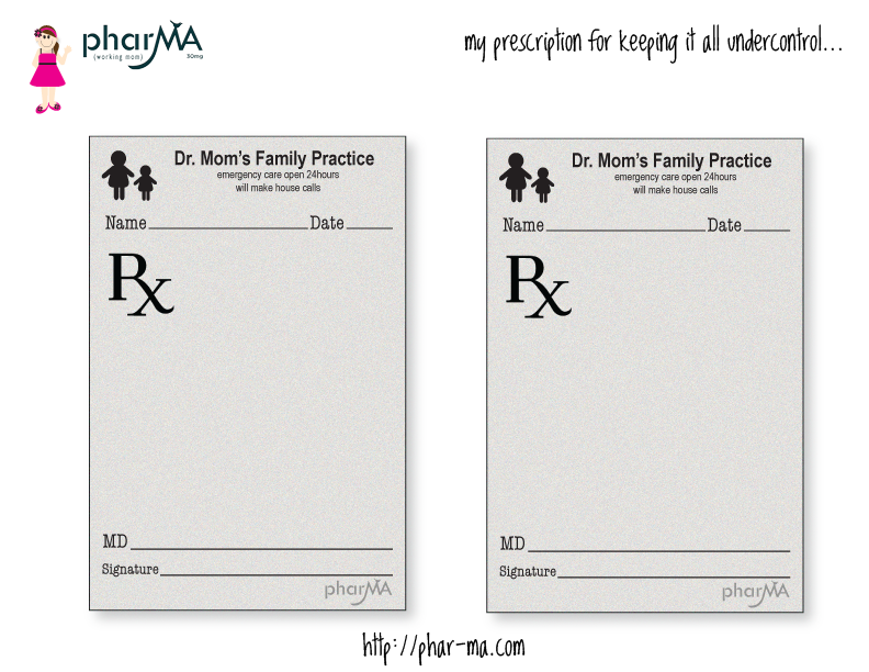 Dr mom s prescription pad phar ma project life for Fake prescription pad template
