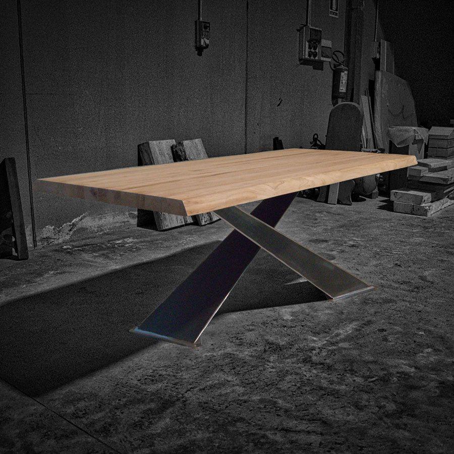 Tavoli Di Design In Legno.X Design Chiaro Tavolo In Legno Massello Di Castagno E