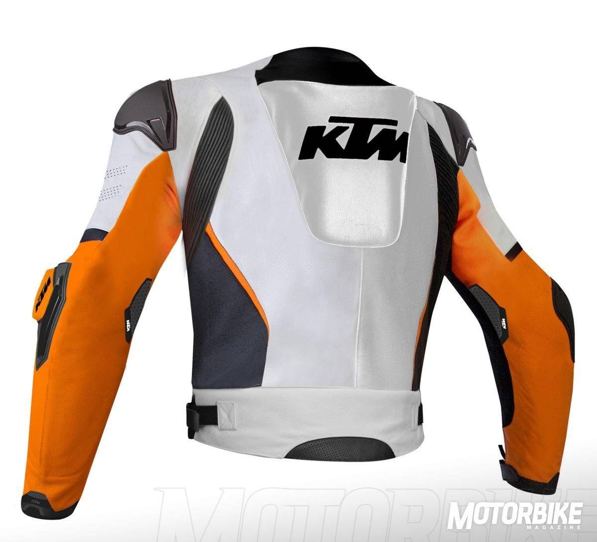 Motorrad Jacke Leder Motorradjacke Lederjacke KTM-orange Motorradlederjacke