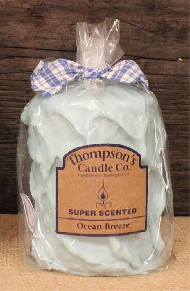 Prim Country Ocean Breeze Medium Pillar, Handmade in the USA, Super Scented #CountryCandles #Primitives