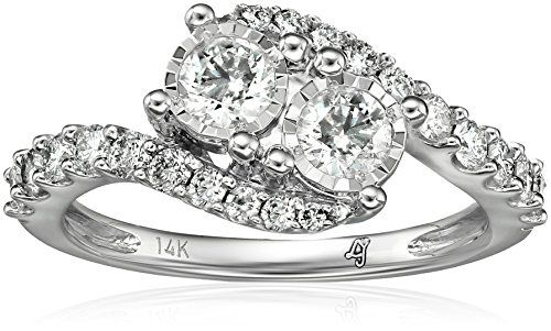 10k 2 Stone Diamond Miracle Plate Engagement Ring 1cttw HI Color I2I3 Clarity Size 7 ** Continue to the product at the image link.