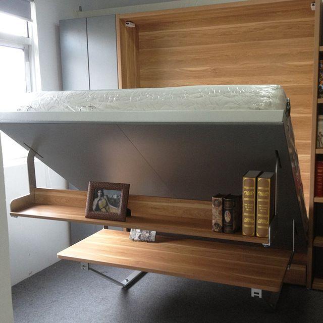 Slaapkamer meubilair muur kingsize bed opklapbed for Bed in muur