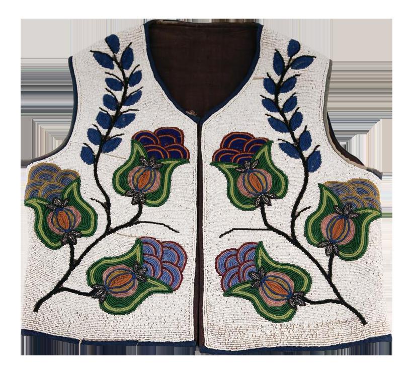 Plateau Native American Beaded Vest on Chairish.com