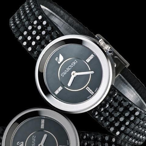 59a9c1032439 Swarovski Swiss Watch PIAZZA MINI Jet Black Stainless Steel  1183491 -  Zhannel - 1