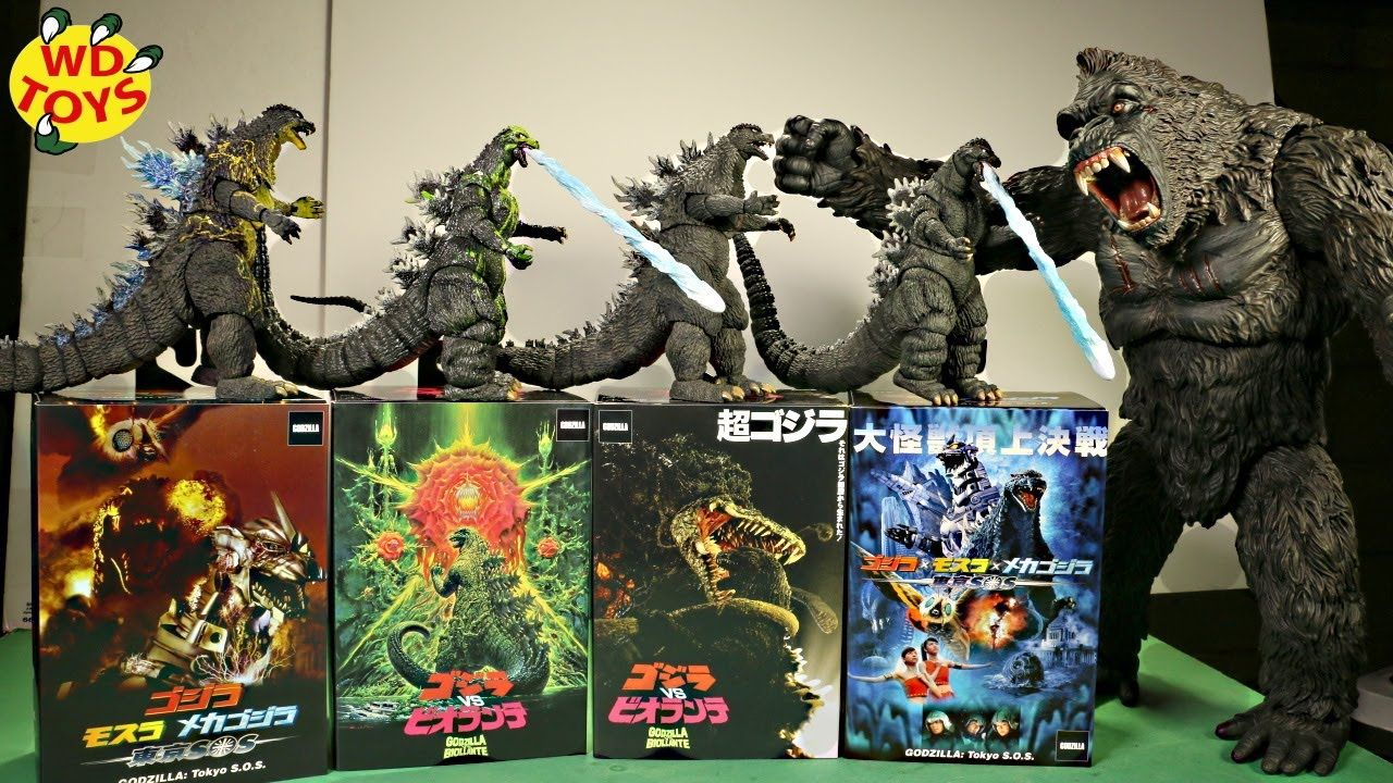 New Godzilla Vs Kong Toys Neca 2020 Unboxed Monsterverse King Kong Vs G King Kong Vs Godzilla King Kong Kong Toys