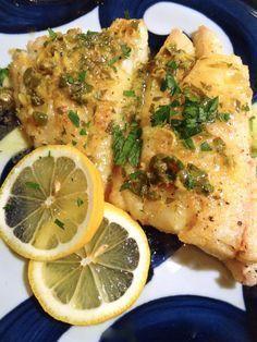Scrumpdillyicious: Haddock Meunière with Lemon Butter Caper Sauce