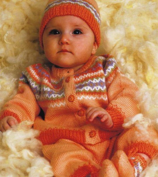 Free November 2017 Only - Knitting Pattern for Fair Isle Baby Set ...