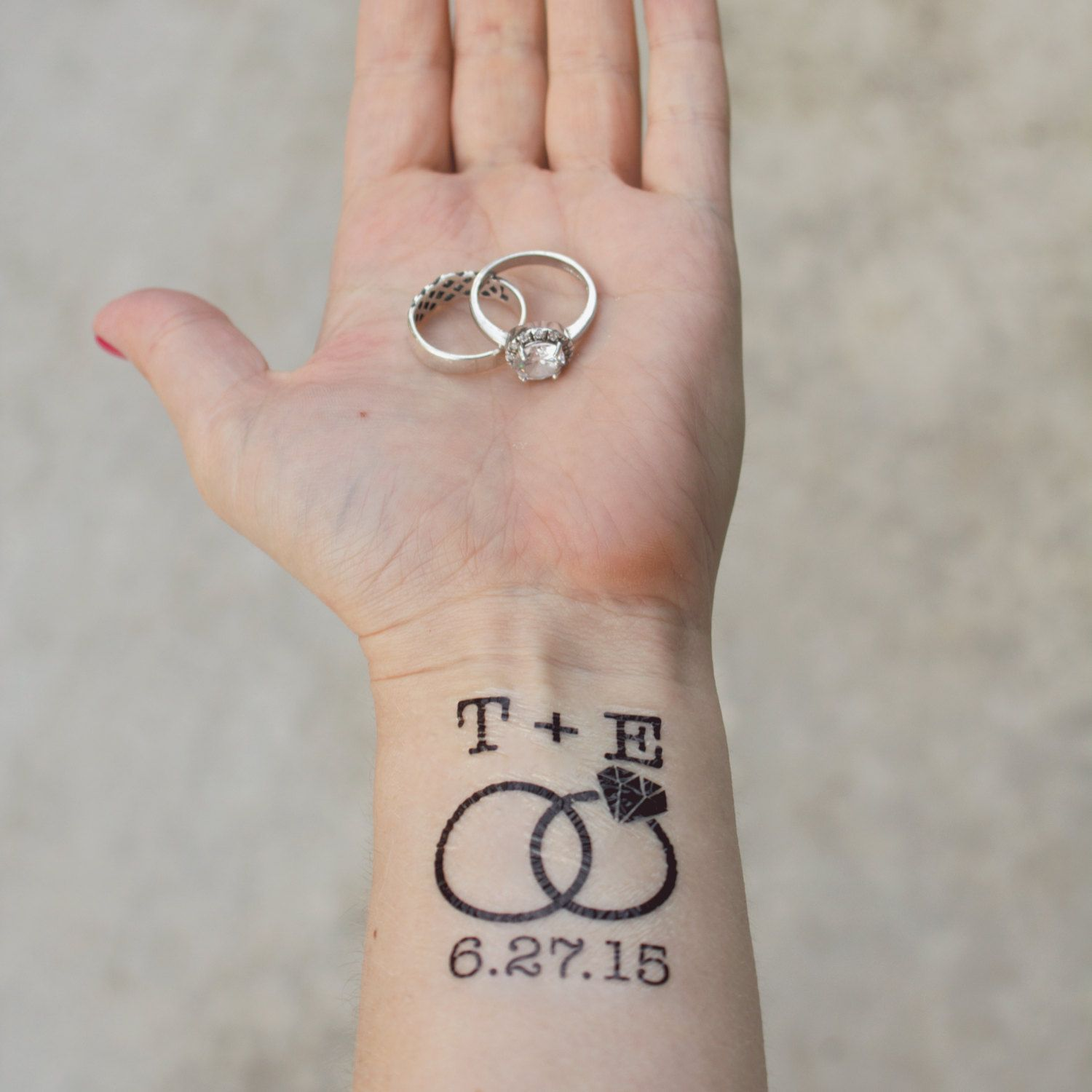 ring tattoos with initials Google Search Wedding date