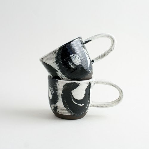 black brushed mug - By Romy Northover - NO.