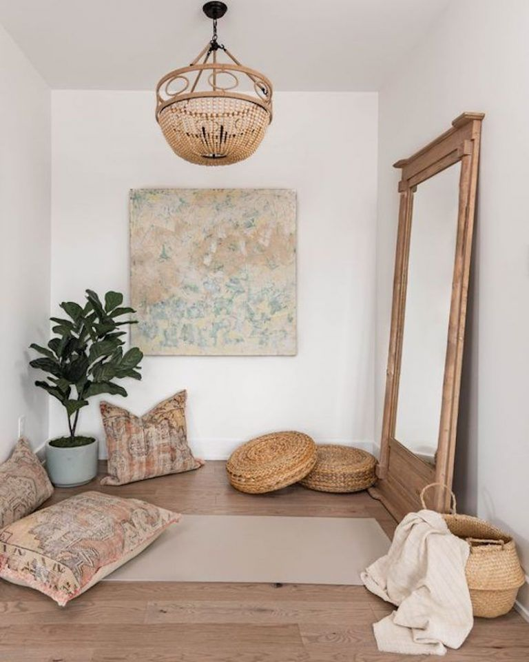 Jeremiah Brent Shares 3 Things Every Meditation Space Needs At Home Home Yoga Room Yoga Room Design Meditation Room Decor