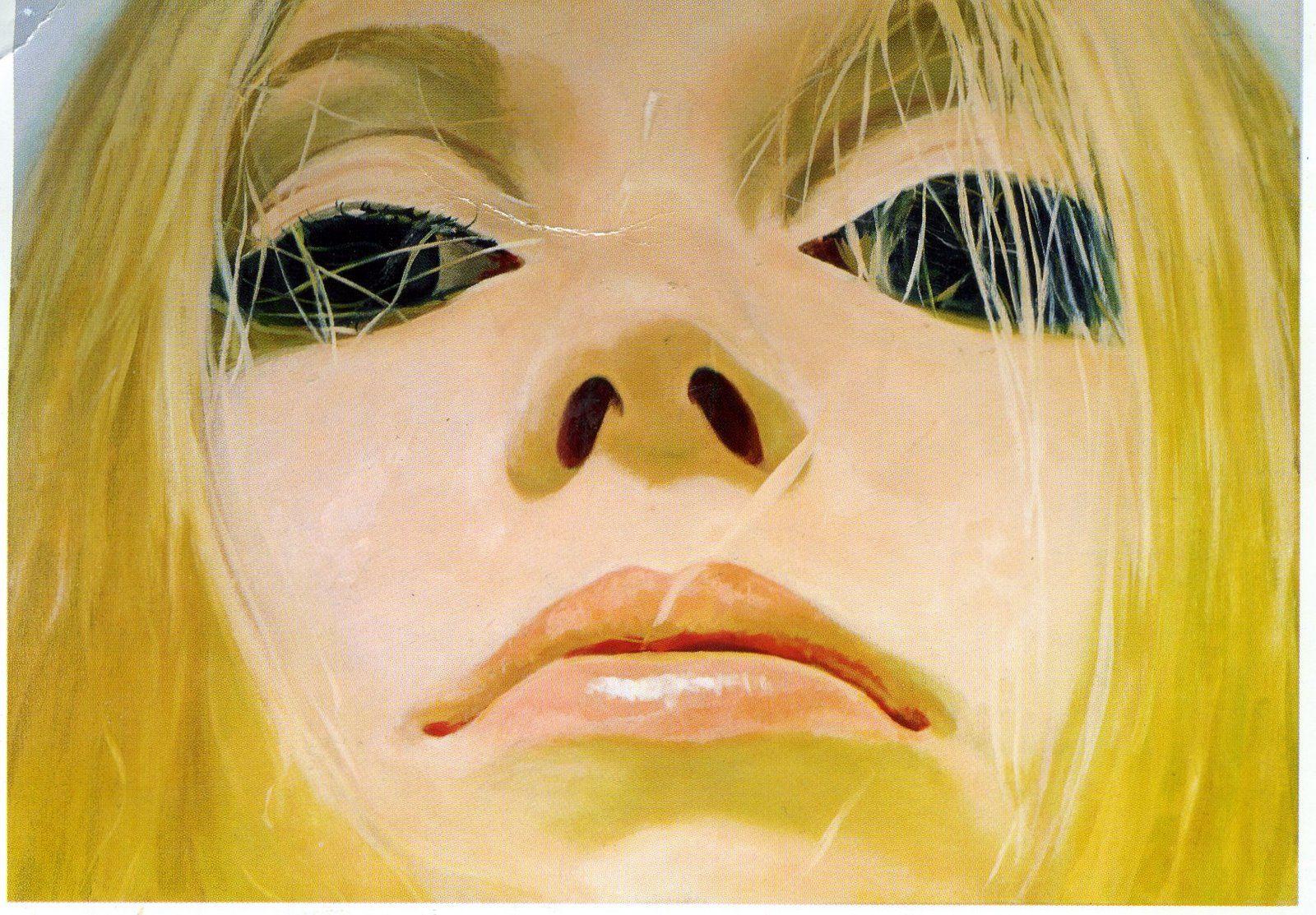 """Horizontal Blonde"" (1996) by Richard Phillips."