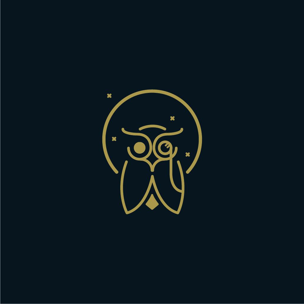 Owl logo brand clothing