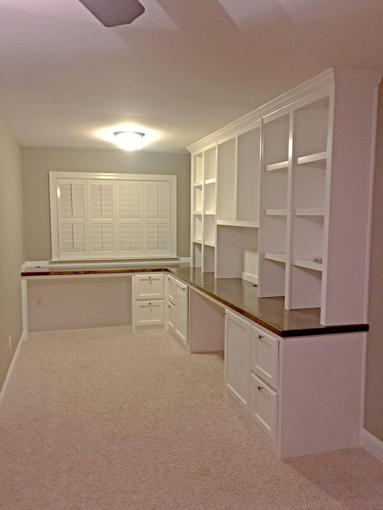 L Shape Double Desk With Filing Drawers Stain Countertop