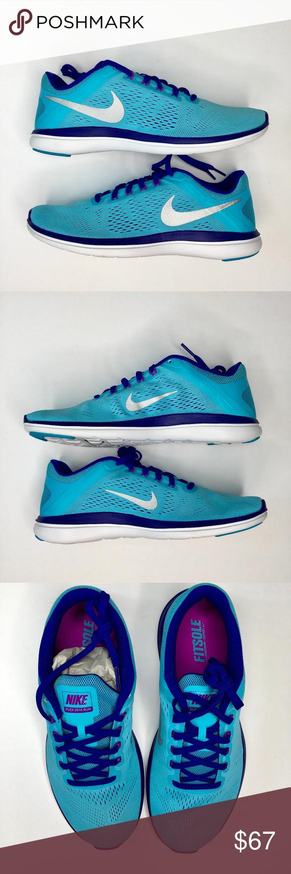 4fd7f6724b7 Nike Flex 2016 RN Blue Purple Running Shoes Nike Flex 2016 RN Women s Size  9 Blue