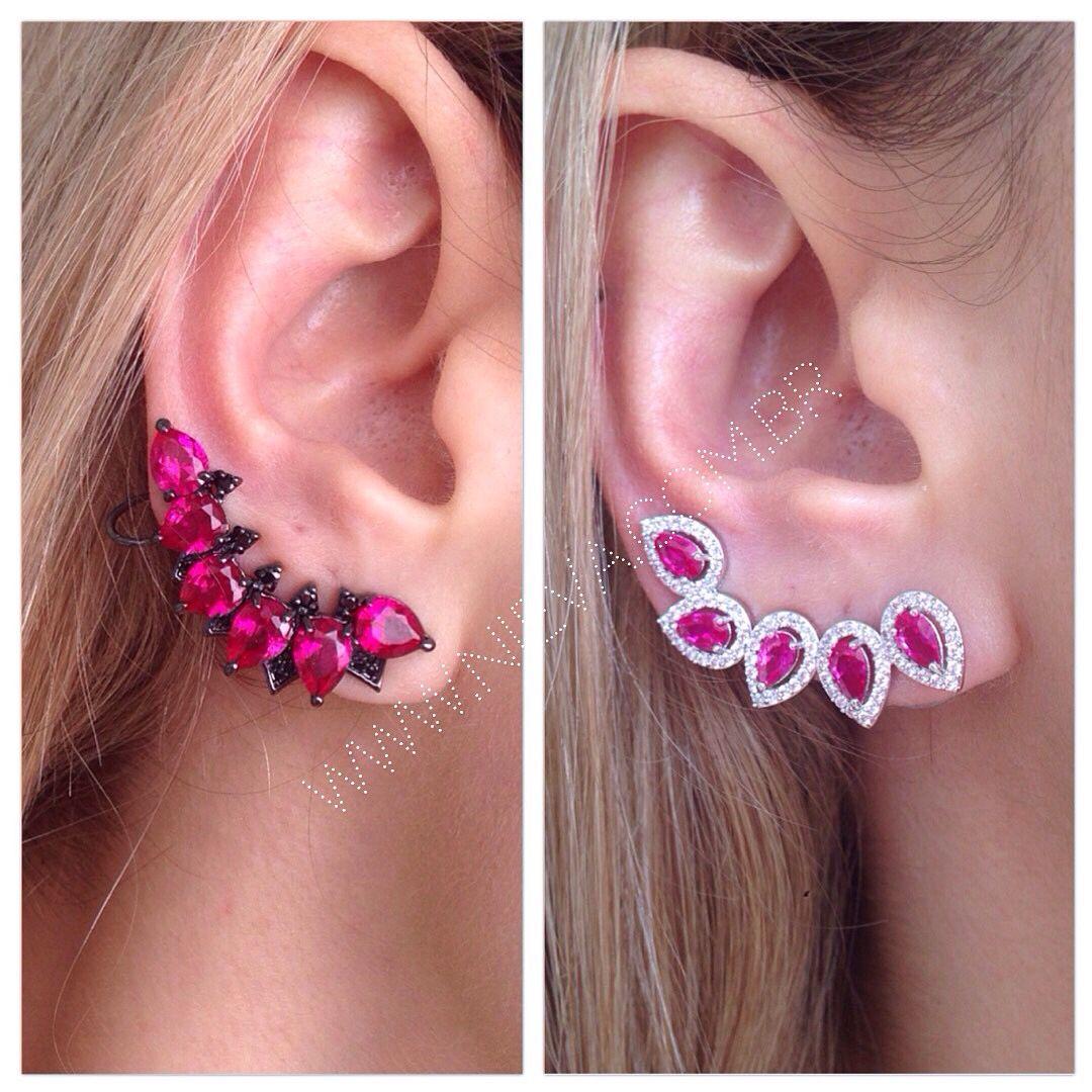 #earcuffs rubi! Lindos e cheios de estilo. Compras pelo site ➡️WWW.NIEVA.COM.BR #semijoias #nievastore #style #shoponline #rubi #shopnow