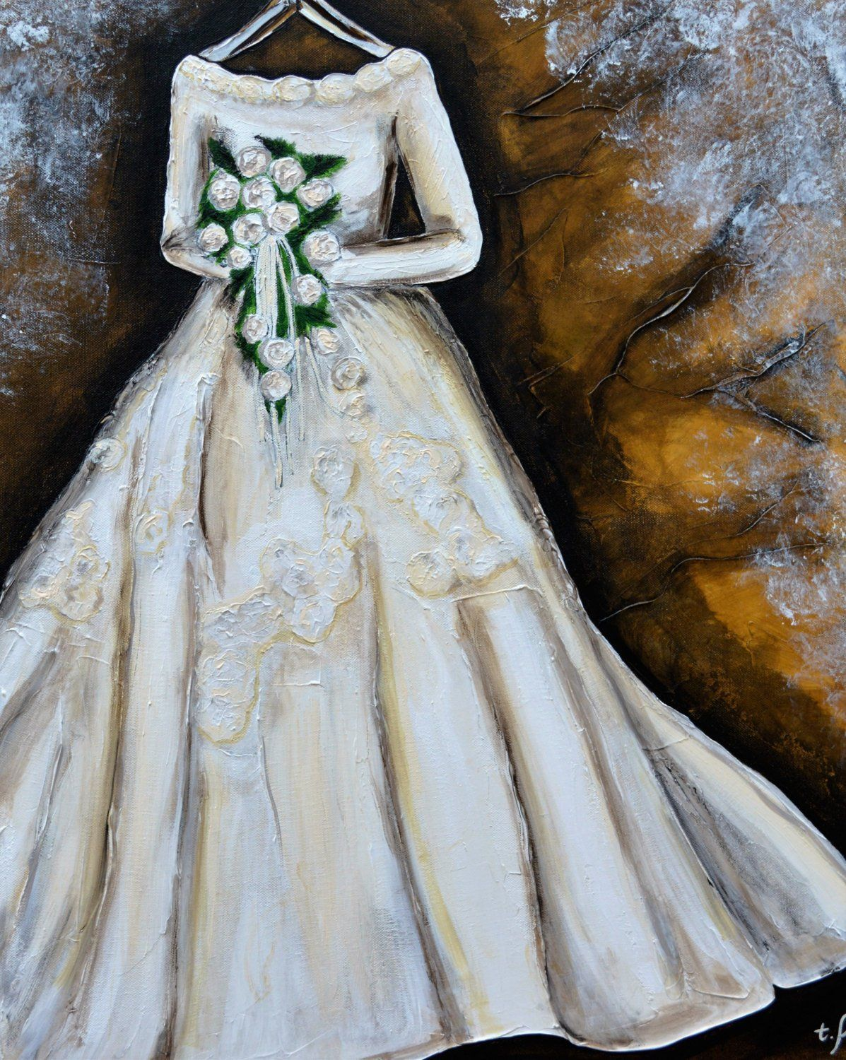 15+ How To Paint A Wedding Dress Images