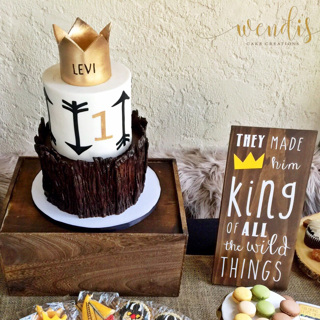 Where The Wild Things Are Themed Cake 1st Birthday Party With
