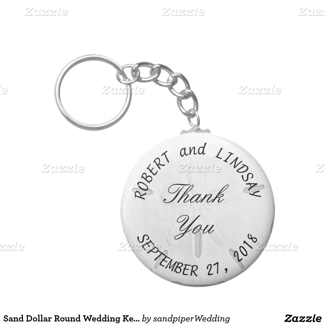 Curved Text Sand Dollar Wedding Favor Keychain | Favors, Weddings ...