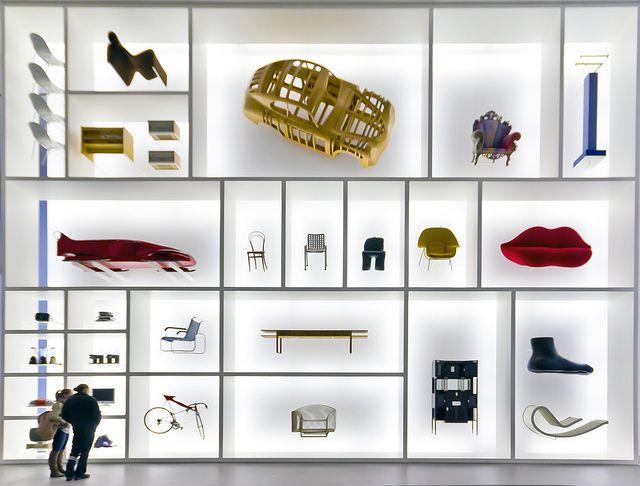 industrial design wall at the pinakothek der moderne in munich exhibition museum display bildhauerei afrikanische kunst