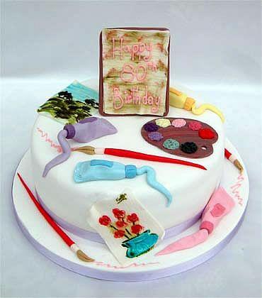 Artists birthday cake from Sugarlicious Theme Lovin Art